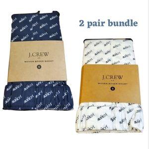 2-pair Bundle J Crew Woven Logo Boxers Small